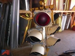 Traffic Head Lamp - 12 inch lenses (Lot 828)