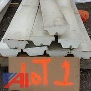 8' long florescent light fixtures  (Working Condition: Yes)