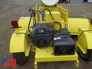 2007 Sweepster 8' pull behind broom with water tank and remote cab controls.  (Working Condition: Yes)