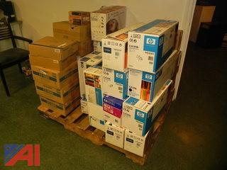 Lot of 45+ Boxes of Unopened Toner Cartridges  HP and More  (Working Condition: Unknown)