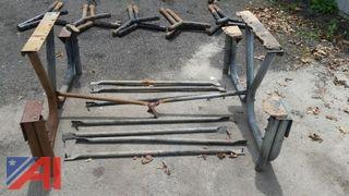 Table and Bench Ends  (Working Condition: Yes)