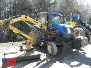 2005  New Holland  TS-100A  Tractor w/ Boom Mower