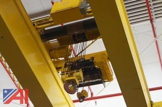 (2) Han-Tek 22 Ton & 10 Ton Double Girder Bridge Cranes