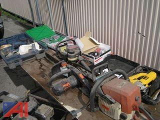 Assortment of Tools/Electric Chain Saws/Generators
