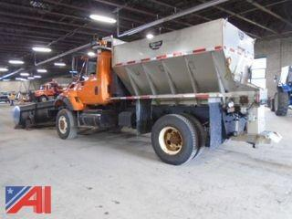 2005  International 750 4x4 Dump Plow & Spreader