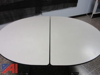 (12) CAFETERIA TABLES, OVAL, 5ft x 6 ft