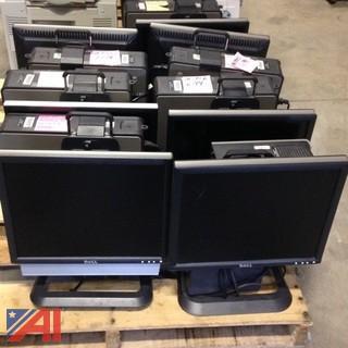Lot of 7 All in One Desktops w/ Monitors