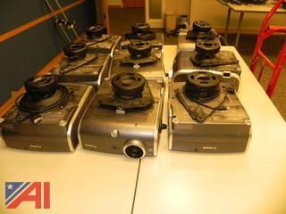 Lot of 9 Canon Realis SX60 Multimedia Projectors w/ Ceiling Mounts
