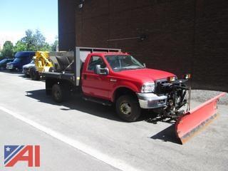 2006  Ford  F-350  Dual Rear Wheel 4x4 Plow/Salt and Sand Truck