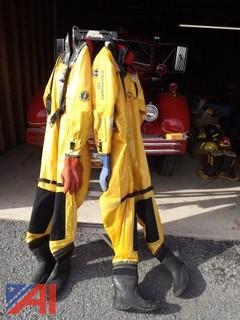 (2) Mustang Ice Commander Rescue Dry Suits