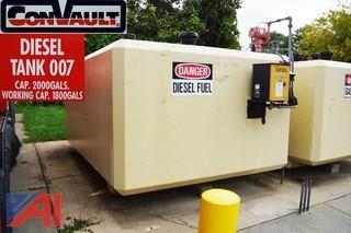1) ConVault 2000 Gallon Above Ground Diesel Storage Tank
