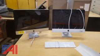 **LOT UPDATED, NO KEYBOARD** (2) Apple Mac All In One Computers