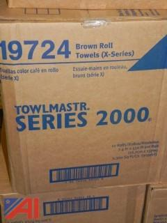 NEW-Lot of 4 Boxes Towlmaster 2000 & 8 Boxes of Hand Sanitizer &  2 Boxes of Hand Soap