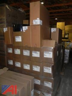 NEW- Lot of 40 Boxes (240 units) Liquid Soap Dispensers & 10 Boxes (Approx 20 units) of 2 Roll Toilet Paper Dispensers