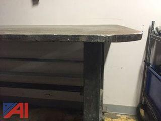 Large Welding Table on Casters