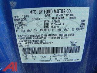 2009 Ford F150 Pickup