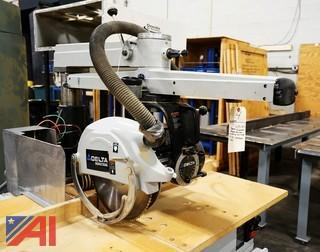 "Delta #33-401 Industrial 14"" Long Arm Radial Saw/Bevel/101741"