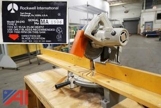 Rockwell #34-010 Miter Box Saw With Steel Shop Cart/100642