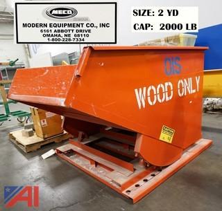 MECO, 1 Ton, 2-Yard Self Dumping Hopper/2000LBS