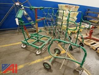 (7) Pc Greenlee Electrical Wire Dispenser/Wire Carts/100357
