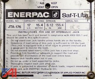 (9) Pc Enerpac SAF-T-Lite JTA Series 17-35 Ton Toe Jack Hydraulic Lifts/101144