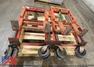 (2) Skarnes Rol-A-Lift 3,000Lb Rigging Dollies/101978/101980