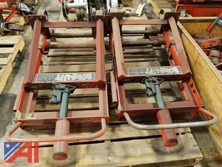 (2) Skarnes M4 Hydraulic Rol-A-Lift 2,000Lb Rigging Dollies