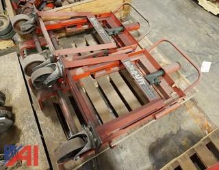 (2) Skarnes M4 Hydraulic Rol-A-Lift 2,000Lb Rigging Dollies