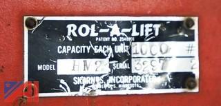 (2) Skarnes HM-2 Hydraulic Rol-A-Lift 1,000Lb Rigging Dollies/101974/101979