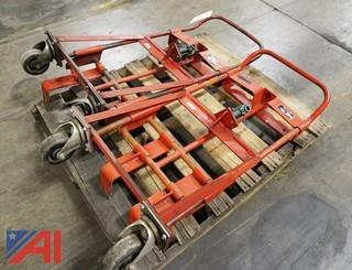 (2) Skarnes HM-2 Hydraulic Rol-A-Lift 1,000Lb Rigging Dollies/101974/101979