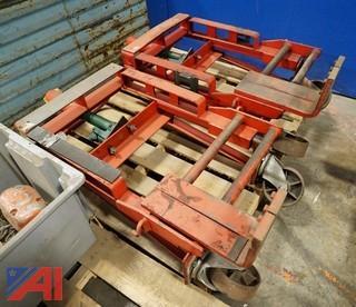 (2) Skarnes M4 Hydraulic Rol-A-Lift Hydraulic 2,000Lb Rigging Dollies