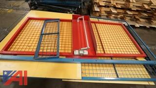 (18) Sections Assorted Security Cages/Crib Panel Sections On 2 Skids