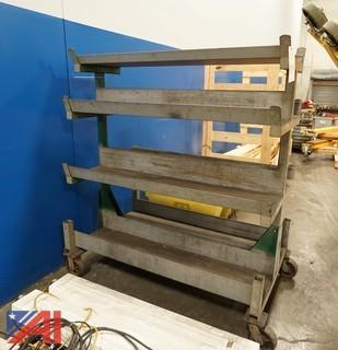 Heavy Steel 3 Shelf Mobil Stock Cart