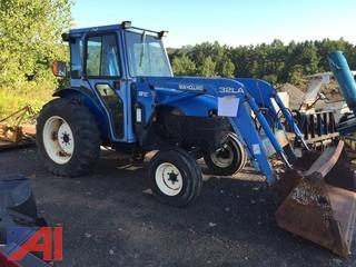 2002 New Holland TN55 Tractor w/ 32LA Front Loader