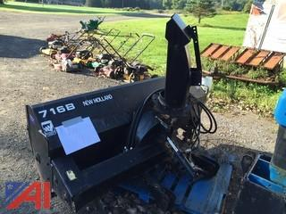 New Holland 716B Tractor  Mounted Snow Blower