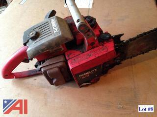 (2) Used Homelite Chainsaws
