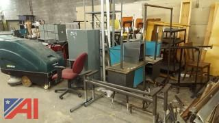 Large Lot of Assorted Electronics and Office Furniture