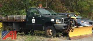 UPDATED CONDITION 2003 Ford F350 SD Pickup w/ Flat Bed & Plow