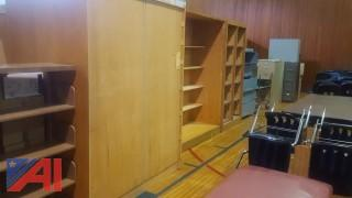 Wooden Cupboard and Shelving Units
