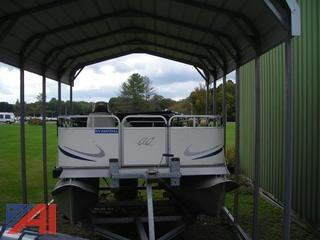 2010 Apex Marine 715-23 Outfitter Pontoon Boat w/ Trailer