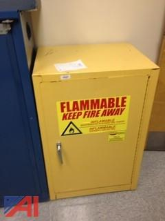 (3) Storage Cabinets of Chemistry Supplies