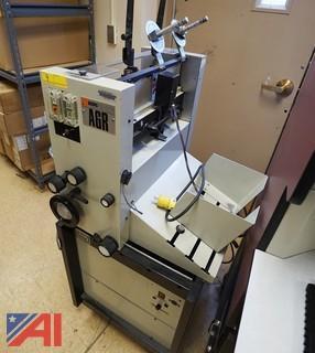 3 Pc A.B. Dick 9840 Offset Press, Bourg AGR Collator, Bantam 1 Paper Counter