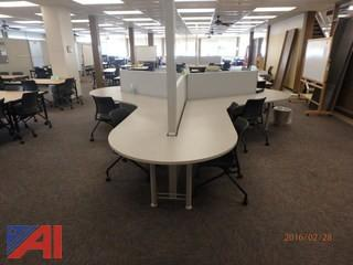 (2) Large Study Tables