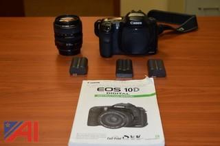 Canon EOS 10D  Digital Single Lens Reflex Camera  (DSLR) Body w/ 28-105mm Lens and 3 Batteries