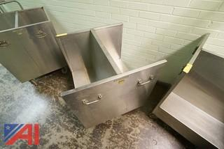 14 Pc Group Of Roll Around Service Carts & Trays