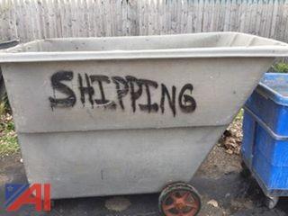 (3) Rubbermaid Dump Hoppers